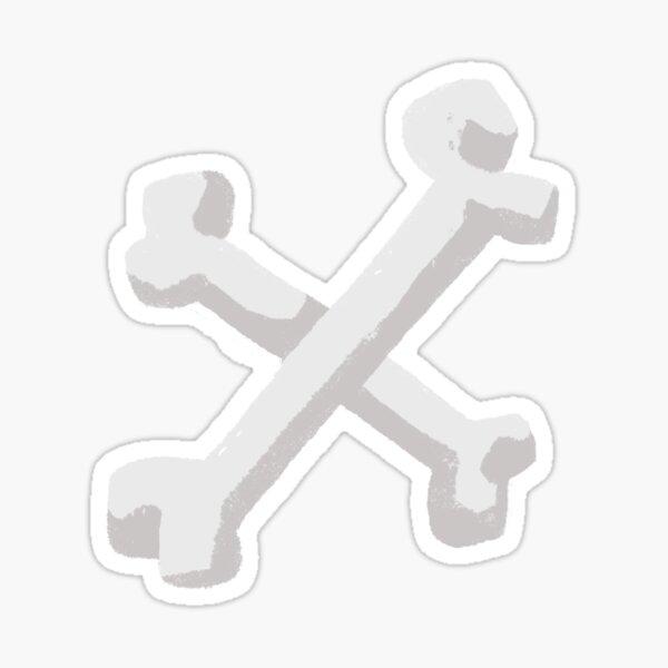 X Bones Sticker