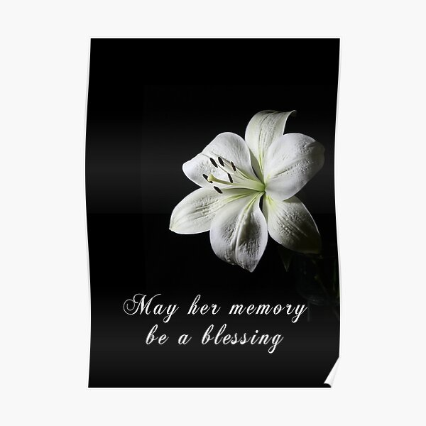 Condolence Card with White Lily Poster