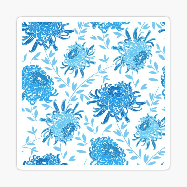 Chrysanthemum Aqua Sticker