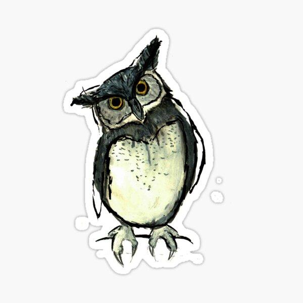 Sketchy owl Sticker