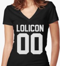 Lolicon 00 Women's Fitted V-Neck T-Shirt