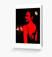 The Bridesmaid: Red Greeting Card