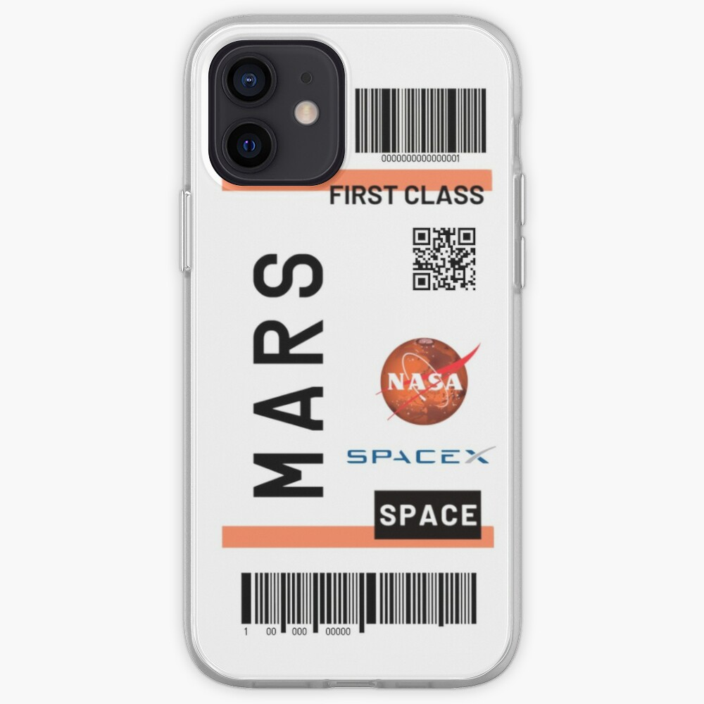 Mars space ticket  iPhone Case & Cover