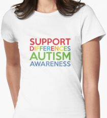 Support Differences Autism Awareness T-Shirt