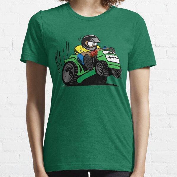 Cartoon Riding Lawnmower Tractor Essential T-Shirt