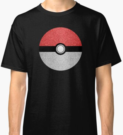 Sparkly red and silver sparkles poke ball Classic T-Shirt