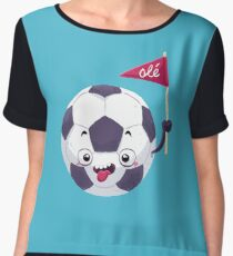 Football Face Women's Chiffon Top