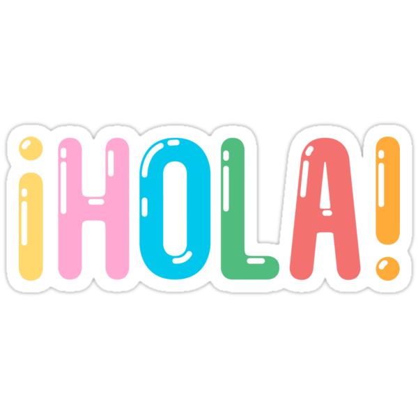 Quot 161 Hola Quot Stickers By Moremo Redbubble