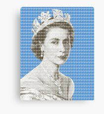 God Save The Queen - Blue Canvas Print