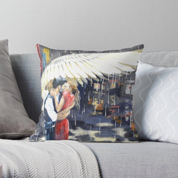 Deckerstar - feathery shelter from the rain Throw Pillow