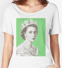 God Save The Queen - Green Women's Relaxed Fit T-Shirt