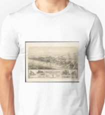 Vintage Pictorial Map of Sea Isle City NJ (1885) Unisex T-Shirt