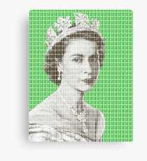 God Save The Queen - Green Canvas Print