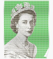 God Save The Queen - Green Poster