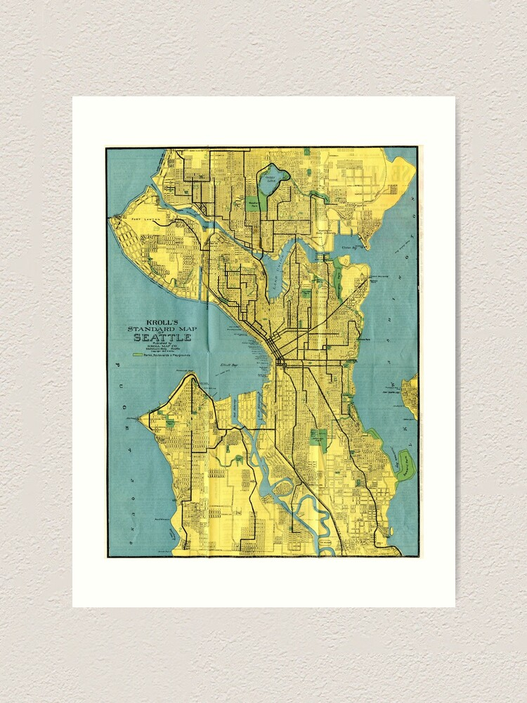 It's just a graphic of Printable Map of Seattle regarding detailed