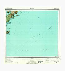 USGS TOPO Map Alaska AK Kaguyak 360993 1952 250000 Photographic Print