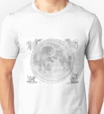 Vintage Map of The Moon (1647) Unisex T-Shirt
