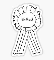 Shithead Ribbon Sticker Sticker