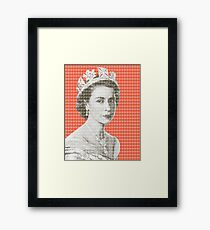 God Save The Queen - Orange Framed Print