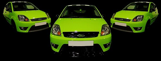 Green Ford Fiesta by Vicki Spindler (VHS Photography)