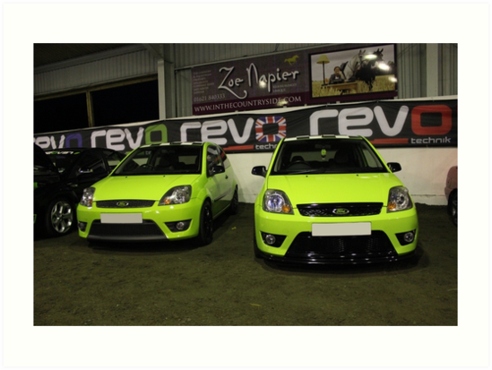 Two Green Fiestas by Vicki Spindler (VHS Photography)