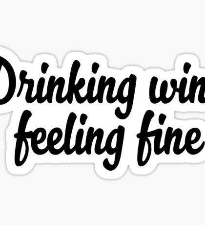 drinking wine Sticker