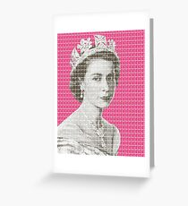 God Save The Queen - Pink Greeting Card