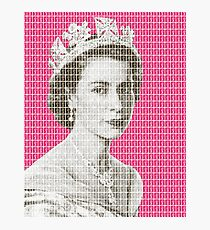 God Save The Queen - Pink Photographic Print