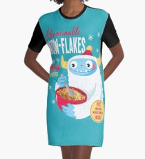 Abominable Snowflakes Graphic T-Shirt Dress