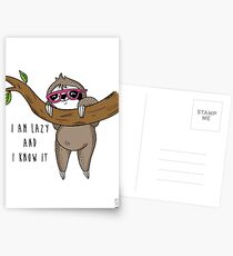 I am lazy and I know it Postcards