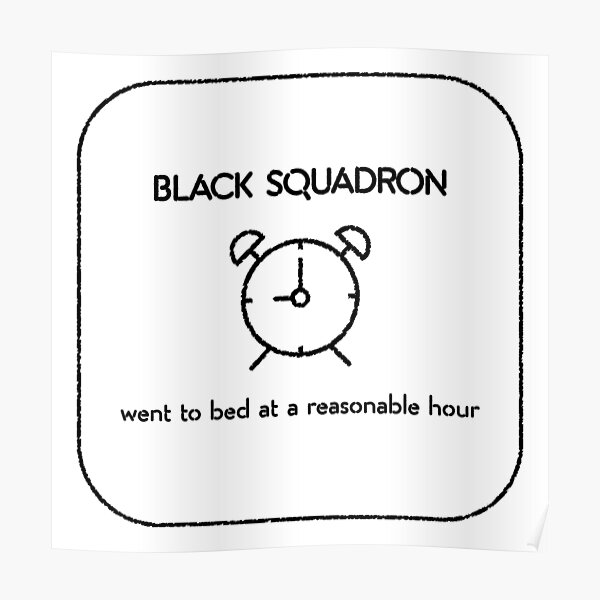 Black squadron Poster