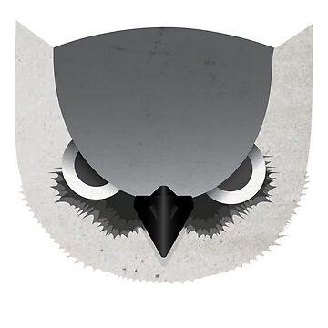 Angry Owl Head by errickschild
