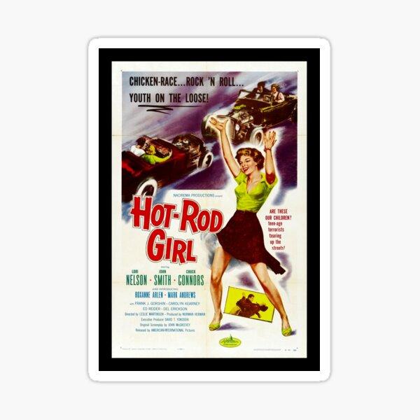 Hot Rod Girl (1956) Sticker