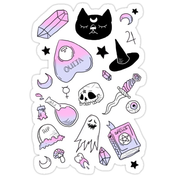 Quot Little Witch Quot Stickers By Gengarparty Redbubble
