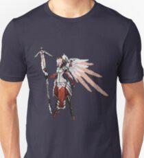 Dark Red Mercy pixel Unisex T-Shirt