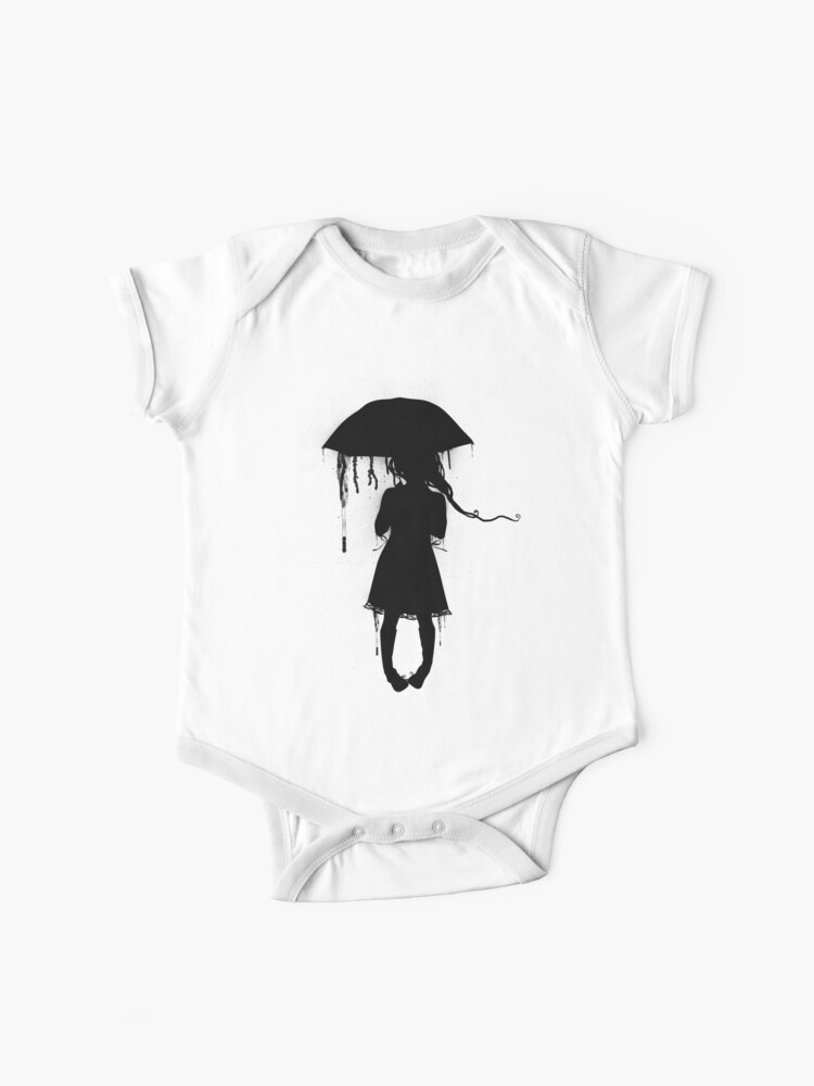 Skydiving Silhouette Baby Girls Short Sleeve Shirt Clothing