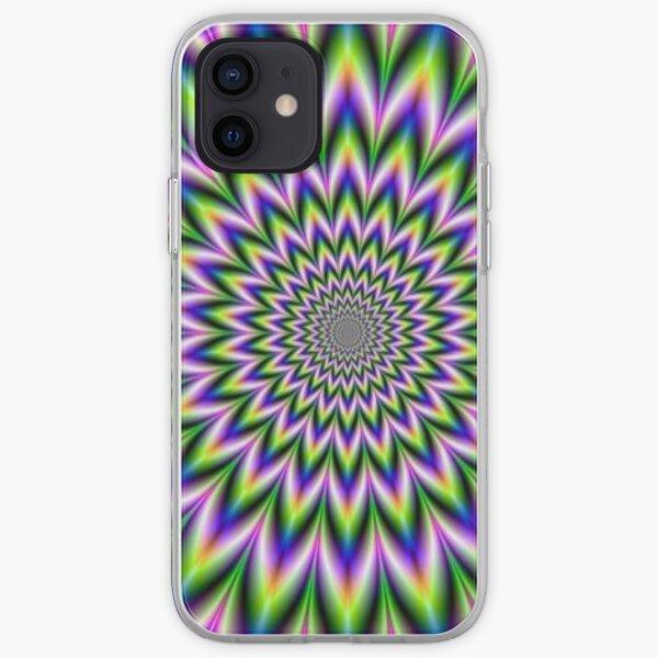 Psychedelic, Optical art, Op art, Vibration iPhone Soft Case