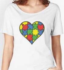 Autism Awareness Heart Women's Relaxed Fit T-Shirt