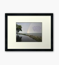 A Song of Rainbows Framed Print