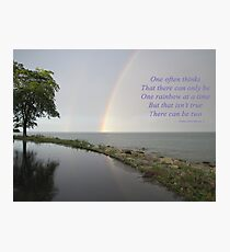 A Song of Rainbows Photographic Print