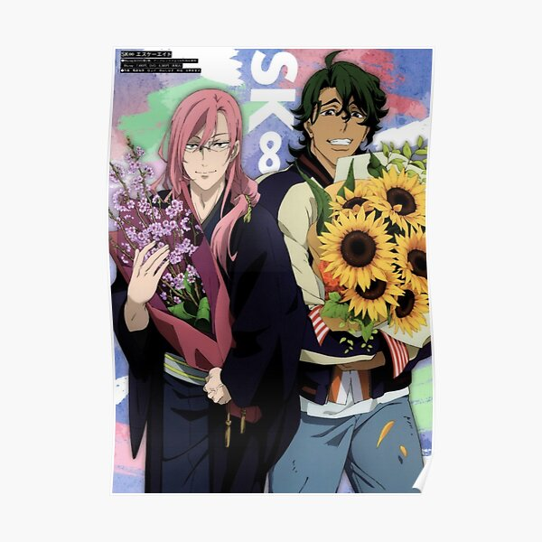 CHERRY and JOE - Magazine Cover Poster - SK8 the INFINITY - Matcha Blossom Poster