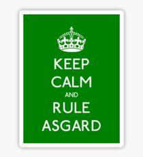 Keep calm and rule Asgard Sticker