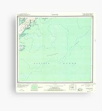 USGS TOPO Map Alaska AK Kaguyak 360992 1951 250000 Canvas Print