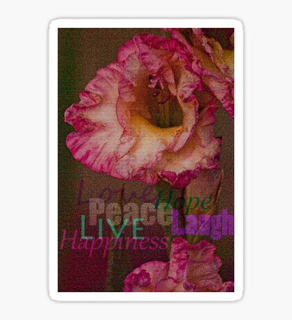 Peace, Love, Hope, Laugh, Live, Happiness Sticker