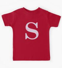 Letter S Blue And Pink Dots And Dashes Monogram Initial Kids Clothes