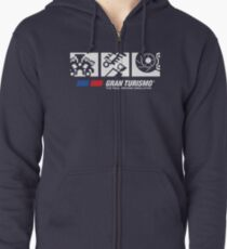 Tune Up Shop - Colored Zipped Hoodie