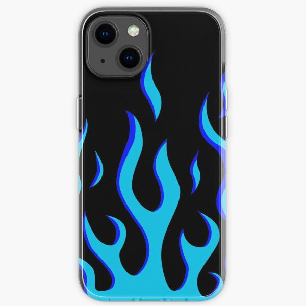 blue flame iPhone Soft Case