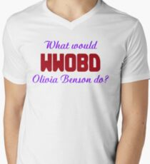 What would Olivia Benson do? WWOBD Men's V-Neck T-Shirt