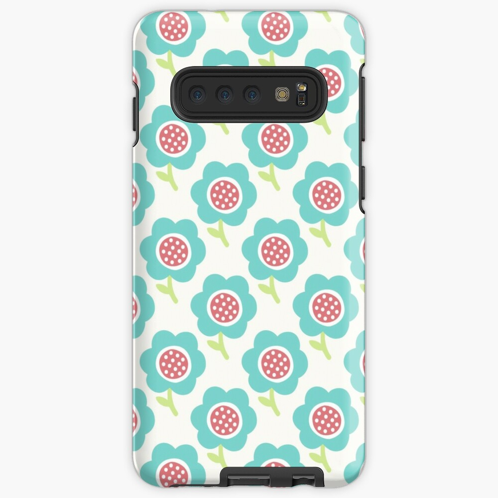 Simple Baby Pattern Cute Seamless Wallpaper Doodle Little Blue Flower Background Case Skin For Samsung Galaxy By Illucesco Redbubble