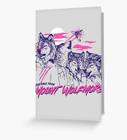 Mount Wolfmore Greeting Card